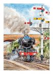 Birthday Card - Flying Scotsman Steam Train - Country Cards