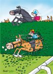 Birthday Card - Horse Rider Racing - The Shortcut - Funny - Country Cards