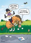 Birthday Card - Horse Rider - A Plastic Bag! - Funny - Country Cards