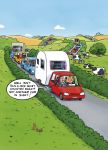 Greetings Card - Caravan Drive in the Country - Funny - Country Cards