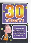 30th Birthday Card - Male Humour - 30 Today
