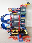 Garage City Parking Playset with 4 cars & helicopter