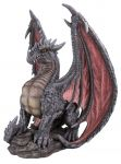 Mythical Dragon - Red/Grey - Garden Ornament - Indoor or Outdoor