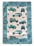 Tea Towel - 4x4 Land Rover Defender - Arty Penguin