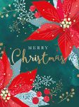 Christmas Card Pack - Poinsettia - 8 Cards Xmas Quality - Ling Design