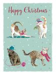 Christmas Card Pack - Cats Purr-fect - 8 Cards Xmas Quality - Ling Design