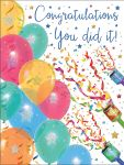 Congratulations Card - You Did It! Balloons