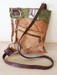 Snaffle Loose Ring Bit Tan Leather & Tweed  Handbag - Joey D