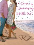 Wedding Anniversary Card - On Your Anniversary