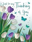 Thinking of You Card - Tulips Butterflies - Regal