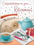 Retirement Card - Radio, Cup of Tea & Newspaper - Regal