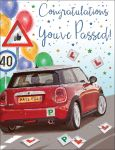 Congratulations Driving Test Card - You've Passed! Mini Car