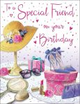 Birthday Card - Special Friend - Hat & Shoes - Regal
