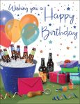 Birthday Card - Male - Beers & Presents - Regal
