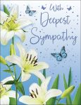 Sympathy Card - Lilies Butterflies - Regal
