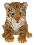 Tiger Cub Baby - Lifelike Ornament Gift - Indoor or Outdoor - Zoo Pet Pals