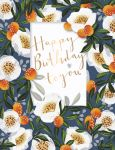 Birthday Card - Female White Flowers - Damson Talking Pictures