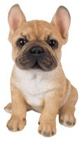 French Golden Bulldog Puppy Dog - Lifelike Ornament Gift - Indoor or Outdoor - Pet Pals