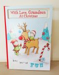 Christmas Card - Grandson - Extra Large Cute Card