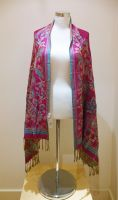 Ladies Reversible Pink Pashmina Scarf