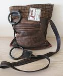 Twisted Wire Snaffle Bit Brown Tweed & Leather Zip Handbag - Joey D