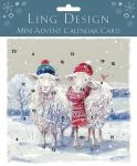 Advent Calendar Christmas Card - Keeping Cosy Sheep - Ling Design