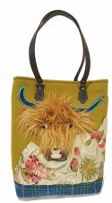 Scottish Highland Cow Green Handmade Handbag