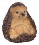 Baby Hedgehog Sitting - Lifelike Garden Ornament - Indoor or Outdoor - Real Life