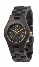 Ladies WeWood Criss Black Gold Wooden Watch