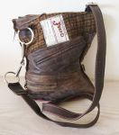 Snaffle Bradoon Bit Brown Leather & Brown Tweed Handbag - Joey D