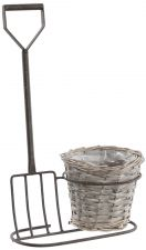 Brown Fork & Basket Garden Planter