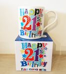21st Birthday Mug - Male - Happy 21st Birthday