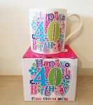40th Birthday Mug - Female - Happy 40th Birthday