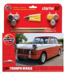 Triumph Herald Car - Scale 1:32 Model Kit Medium Starter Set - Airfix - A55201