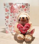 Sloth Cecil Soft Toy With Red Heart 18cm - Love To Hug Keel - Free Gift Bag