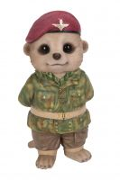 Paratrooper Army Air Force Baby Meerkat Ornament Gift - Indoor or Outdoor - Fun