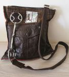 Wilkie Snaffle Beval Bit Brown Tweed & Leather Handbag - Joey D
