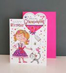 Birthday Card - Granddaughter - Glitter Die-cut - Cherry on Top