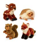 Woodland Animals Plush Soft Toy 19cm - Fox Deer Hedgehog Squirrel - Keel