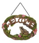 Frog Welcome Sign - Hanging - Garden Friends