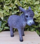 Donkey - Grey Standing Lifelike Garden Ornament Size D - Indoor or Outdoor - Real Life Farm