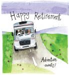 Retirement Card - Motorhome Adventure Caravan - Sparkle - Alex Clark