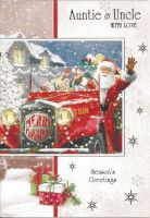 Auntie & Uncle Red Truck - Christmas Card