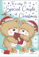 Christmas Card - Special Couple Cute Teddy Bears - Regal