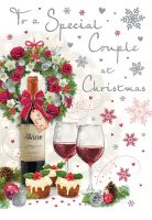 Christmas Card - Special Couple Wine - Regal