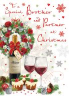 Christmas Card - Brother & Partner Wine - Regal