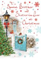 Christmas Card - Brother & Sister in Law Winter Scene - Regal