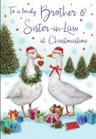 Christmas Card - Brother & Sister in Law Geese - Regal
