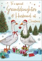 Christmas Card - Granddaughter & Husband Geese - Regal