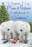 Christmas Card - Mum & Partner Polar Bears- Regal
